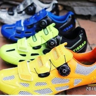 【May Shop】TIEBAO新款透氣旋扣公路車鞋 四色