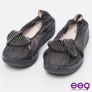 【ee9】芯滿益足-酷勁個性異材質交錯併接厚底休閒便鞋-黑色(厚底休閒便鞋)