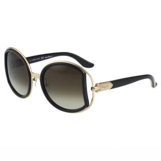【Salvatore Ferragamo】- 時尚 太陽眼鏡(黑色)