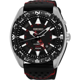 【SEIKO】Prospex GMT 菁英人動電能腕錶-黑(5M85-0AE0R  SUN049P2)