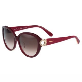 【Salvatore Ferragamo】- 時尚太陽眼鏡(紅色)