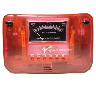 【FENDER】AG6 數位式調音器 紅色