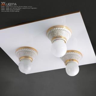 【光的魔法師 Magic Light】美術型輕鋼架燈具 玫瑰花輕鋼架三燈
