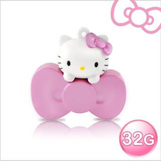 【Hello Kitty】32GB 蝴蝶結系列造型隨身碟(珠光粉 WH-KT220P-速達)