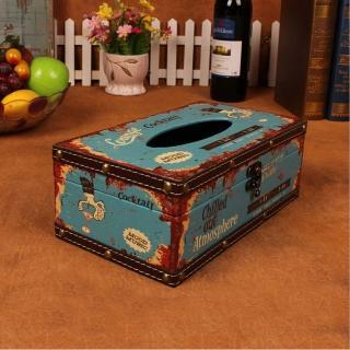 【PUSH! 居家生活用品】復古雞尾酒 紙巾盒 面紙盒 衛生紙抽取收納盒(I35)