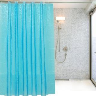 水立方特級加厚防水浴簾(加不鏽鋼伸縮桿)