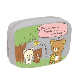 【San-X】拉拉熊蜂蜜森林小熊系列棉布化妝包