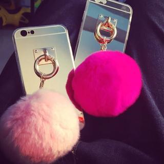 【PS Mall】文藝小清新 iPhone6 全包毛球手機殼(J2310)