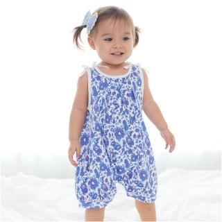 【baby童衣】連身衣 滿版藍碎花女寶寶爬服 60121(共1色)