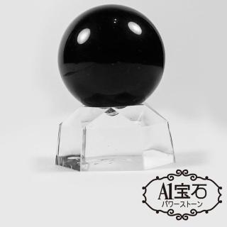 【A1寶石】除穢化煞消災解厄風水-黑色水晶球擺件(含開光加持)
