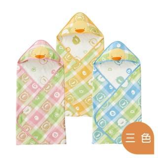 【黃色小鴨PiyoPiyo】六層立體紗包巾(六層紗)