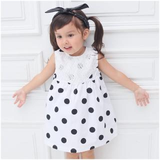 【baby童衣】嬰兒套裝 黑色點點背心裙配短褲套裝 61062(共1色)