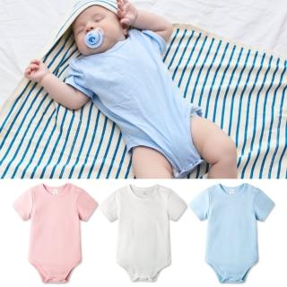 【baby童衣】寶寶包屁衣 短袖純棉素面圓領包屁衣 61118(共3色)
