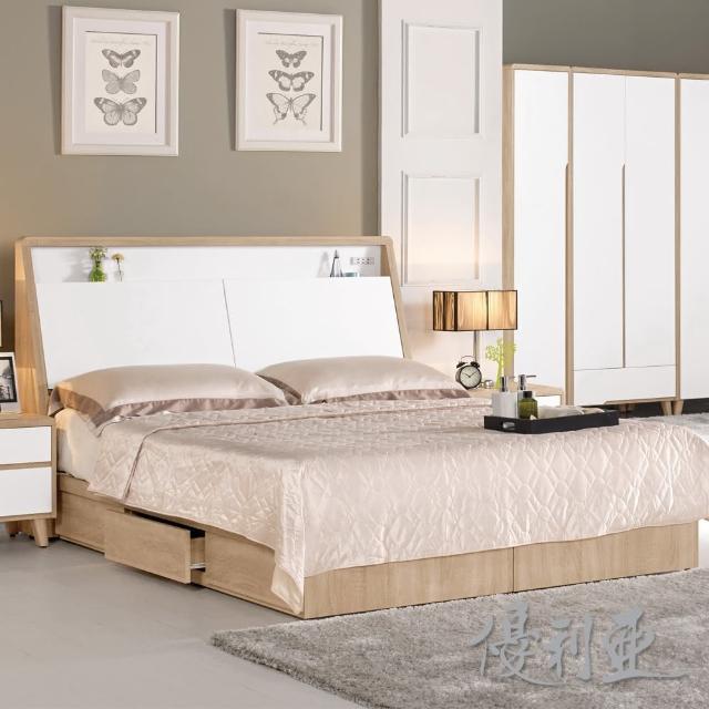【優利亞-伯妮絲】雙人5尺床頭箱+單邊抽屜床底(不含床墊)
