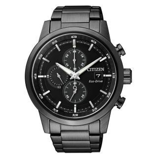 【CITIZEN】簡約質感光動能時尚腕錶(黑鋼/CA0615-59E)