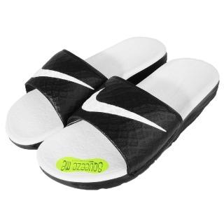 【NIKE】拖鞋 Wmns Benassi Solarsoft 運動休閒 黑白 女鞋(705475-010)