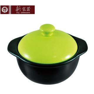 【新食器】MIT認證陶瓷彩釉個人鍋1L(綠色)