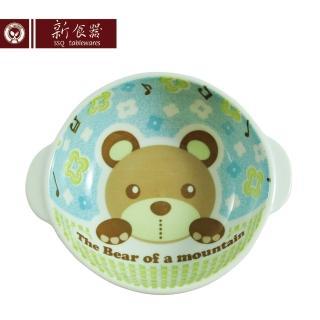 【新食器】日本製酷Q熊兒童雙耳小湯碗(湯碗 兒童餐具)