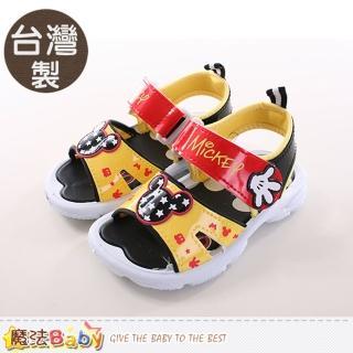 【魔法Baby】兒童涼鞋 台灣製迪士尼米奇正版涼鞋(sh9700)