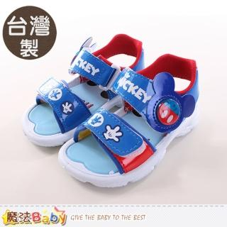 【魔法Baby】兒童涼鞋 台灣製迪士尼米奇正版涼鞋(sh9702)