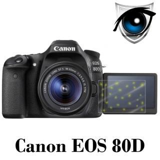 【D&A】Canon EOS 80D日本原膜增豔螢幕貼(9H防藍光疏油疏水型)
