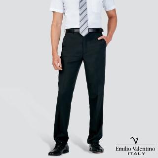 【Emilio Valentino 范倫提諾】涼感紗平面西褲(黑)
