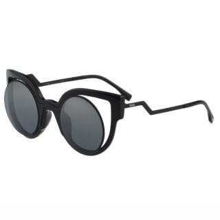 【FENDI】-時尚造型 太陽眼鏡(黑色)