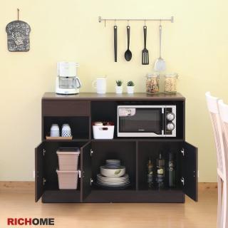 【RICHOME】畢卡索防潑水三門餐櫃(2色)