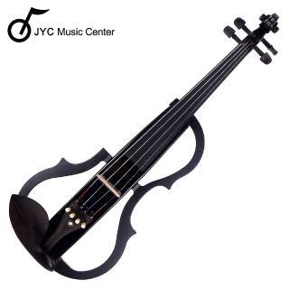 【JYC Music】SV-150S靜音提琴-黑色(雙輸出/三段EQ)