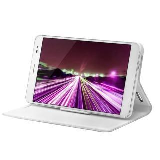 【HUAWEI】MediaPad X1/榮耀X1 原廠開窗式側掀站立式皮套(白色)