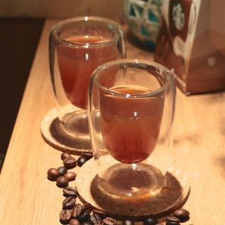 【Artist精選】耐熱玻璃ESPRESSO雙層咖啡杯100ml-2入