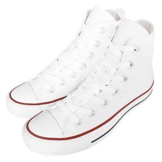 【CONVERSE】休閒鞋 Chuck All Star 高筒帆布 基本款 白紅 情侶鞋 男鞋 女鞋(M7650C)