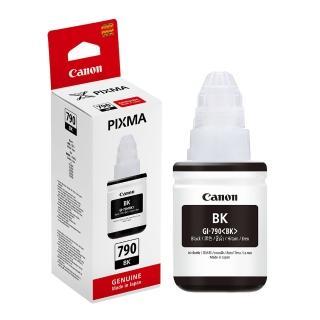 【Canon】GI-790BK 原廠黑色墨水(速達)