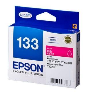 【EPSON】NO.133原廠紅色墨水匣(T133350)