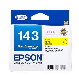 【EPSON】NO.143 原廠黃色墨水匣(T143450)
