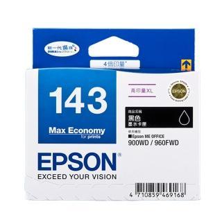 【EPSON】NO.143 原廠黑色墨水匣(T143150)