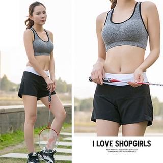 【KissDiamond】日系防走光速乾透氣運動短褲(假兩件式 繽紛八色可選)