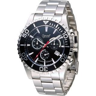 【Ogival 愛其華】先鋒極速計時腕錶(3985-3GS-B)