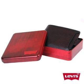 【Levis】深棕色短款皮夾