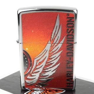 【ZIPPO】美系-哈雷-Harley-Davidson-翅膀圖案設計打火機