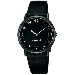 【agnes b.】簡約手繪刻度 時尚皮帶腕錶-黑(BG4002P1/7N00-0BC0D)