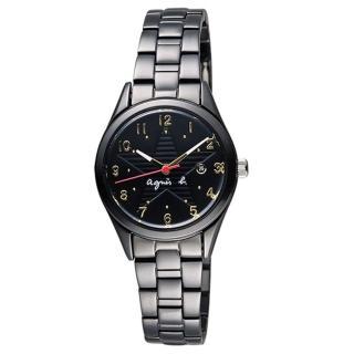 【agnes b.】限定低調閃耀星空女腕錶-29mm/黑(VJ22-KR60SD/BH7015X1)