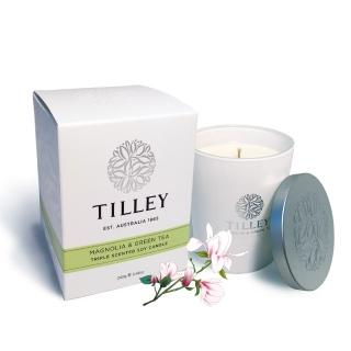 【Tilley百年特莉】木蘭花&綠茶香氛大豆蠟燭(240g)