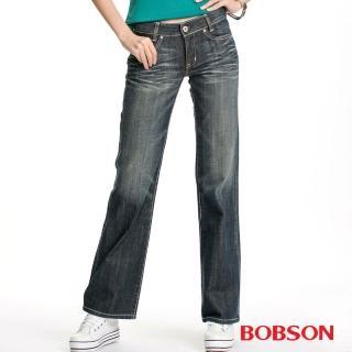 【BOBSON】女款寬潮作喇叭褲(9057-52)