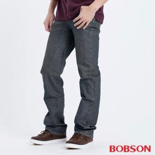 【BOBSON】男款低腰直筒褲(灰藍1691-53)