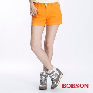 【BOBSON】女款套染短褲(橘196-31)