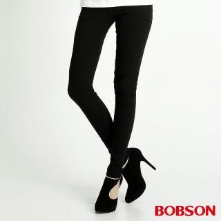 【BOBSON】女款高彈力緹織布緊身褲(8108-88)
