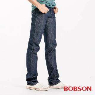 【BOBSON】男款日本進口布中直筒褲(藍1630-52)