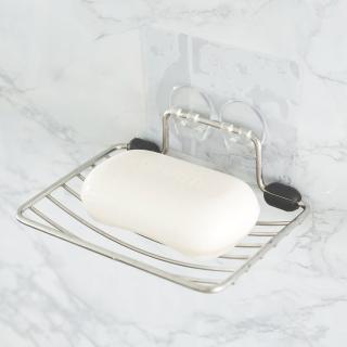 【樂活主義】新魔力霧面無痕貼系列-不鏽鋼肥皂架