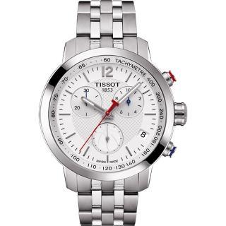 【TISSOT】T-Sport PRC200 NBA特別版計時腕錶-銀(T0554171101701)